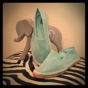 Shoes - Turquoise Espadrilles NWOT